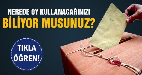 1 Kasım Seçimlerinde Nerede Oy Kullanacağınızı Biliyormusunuz?