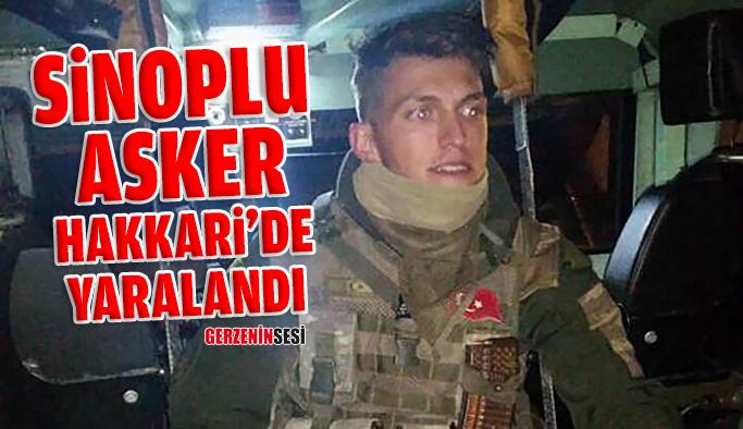 Sinoplu Askerin Ayağına Şarapnel Saplandı