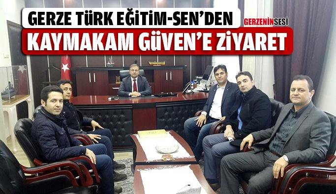 Gerze Türk Eğitim-Sen'den Gerze Kaymakamı'na Ziyaret