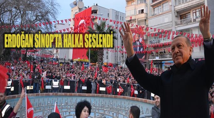 Cumhurbaşkanı Erdoğan Sinop'ta