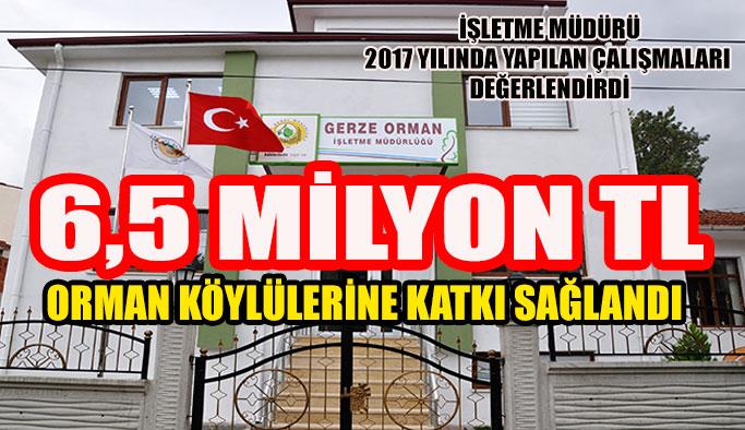 Orman köylülerine 6 Milyon 490 Bin TL katkı sağlandı