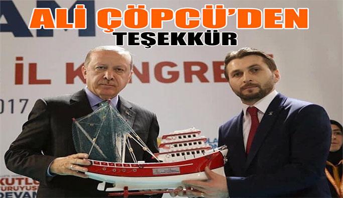 İl Başkanı Ali Çöpcü'den Teşekkür