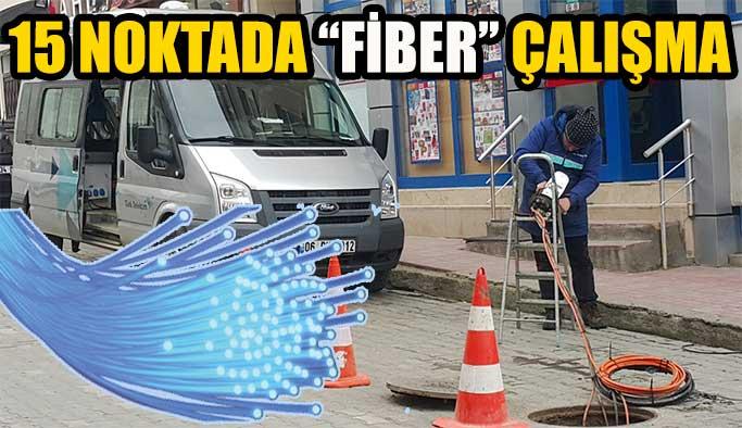 Gerze'nin 15 noktasında fiber alt yapı çalışmaları devam ediyor