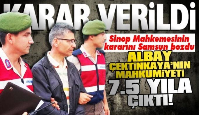Albay Çetinkaya'ya 7.5 yıl hapis cezası