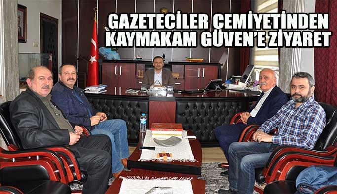 Gazeteciler Kaymakam Güven'i Ziyaret Etti