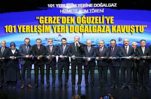 """""""Sinop Gerze dahil 101 yerleşim yeri doğalgaza kavuştu"""""""