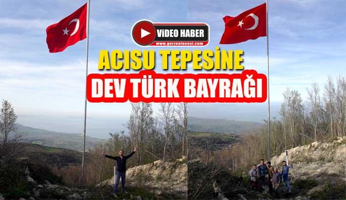 Gerzeli esnaftan Mehmetçiğe bayraklı destek
