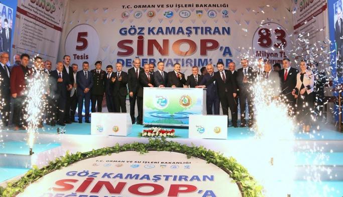 Sinop'a 83 milyon TL'lik Yatırım