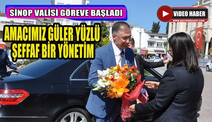 Yeni Sinop Valisi Köksal Şakalar görevine başladı