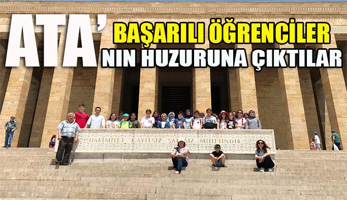 Başarılı öğrenciler ATA'nın huzuruna çıktılar