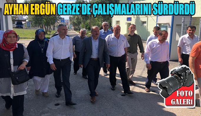 Ergün Gerze'de Kurum ve kuruluşları ziyaret etti.