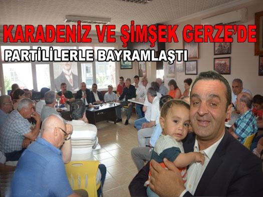 KARADENİZ ve ŞİMŞEK'ten Gerze'de Bayram Ziyareti