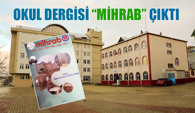 """Okul dergisi """"Mihrab"""" çıktı"""