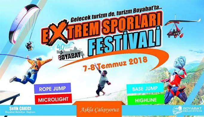 Boyabat'ta Ekstrem Spor Festivali başlıyor
