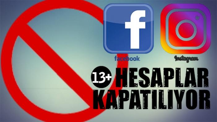 Facebook ve İnstagram'a 13 yaş sınırı