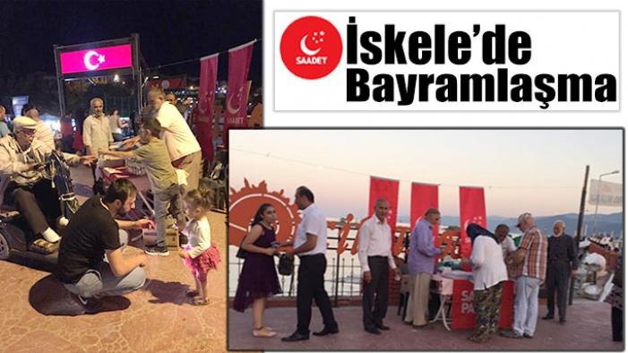 Gerze teşkilatı vatandaşlarla bayramlaştı