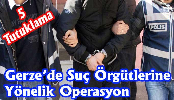 Gerze'deki Operasyonlarda 5 Kişi Tutuklandı