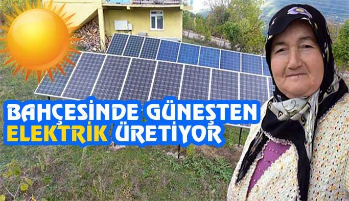 Evinin bahçesinde elektrik üretiyor