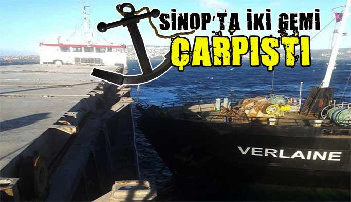 İki yük gemisi çarpıştı