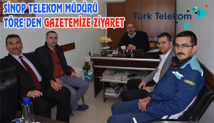Sinop Telekom Müdüründen Gazetemize Ziyaret