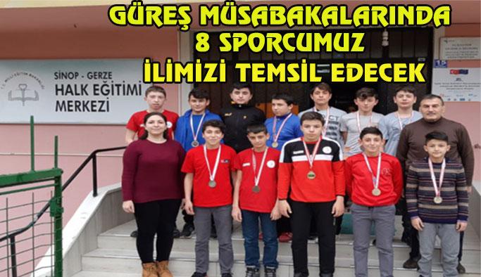 Sinop Güreş Takımı Seçmeleri Yapıldı