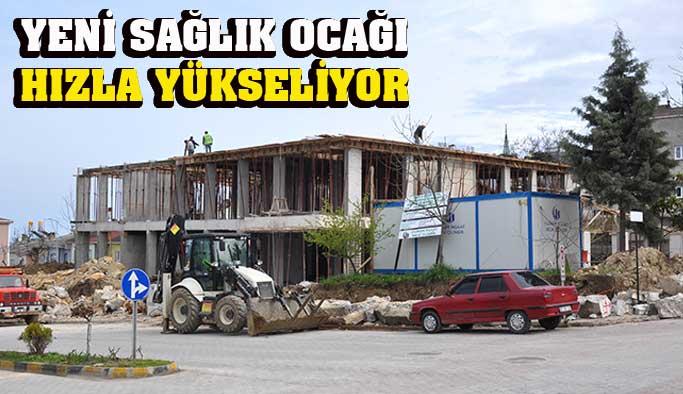 Yeni sağlık ocağı inşaatında ikinci kata başlandı