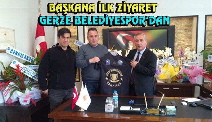 Başkana ilk ziyaret Gerze Belediyespor yönetiminden
