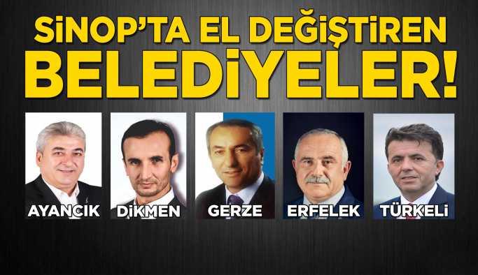Sinop Genelinde el değiştiren belediyeler