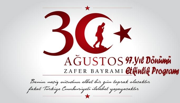 30 Ağustos Zafer Bayramı Etkinlik Programı