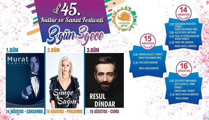 Gerze Kültür ve Sanat Festivali Başlıyor