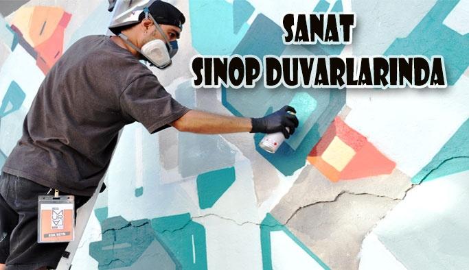 Sokak Sanatının Kalbi Sinop Duvarlarında