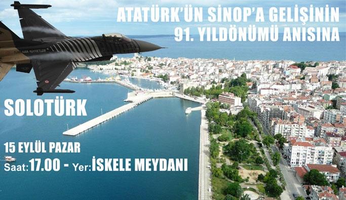 Atatürk'ün Sinop'a Gelişinin 91. Yıldönümü Etkinlik Programı