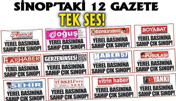 Sinop Basını Ulusalın Gündeminde!