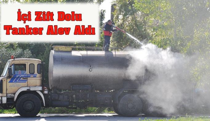 Yaykıl Kavşağında Tanker Alev Aldı