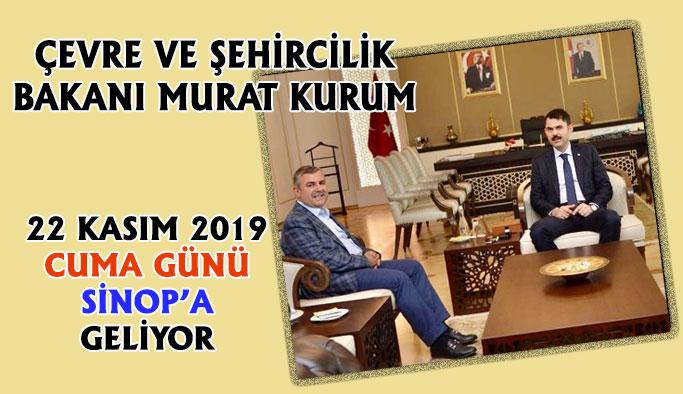 Çevre Ve Şehircilik Bakanı Sinop'a Geliyor