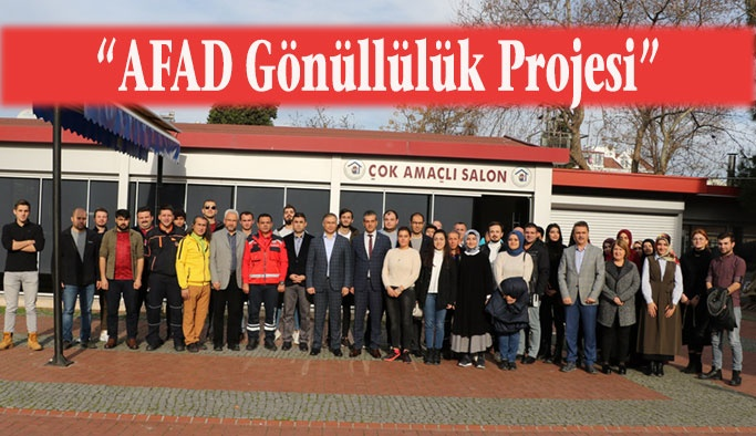 AFAD Gönüllülük Projesi Kapsamında Toplantı Düzenlendi
