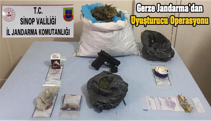 Gerze Jandarma'dan Uyuşturucuya Geçit Yok