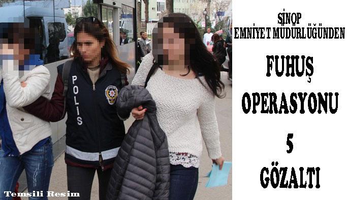 Sinop'ta Fuhuş Operasyonu