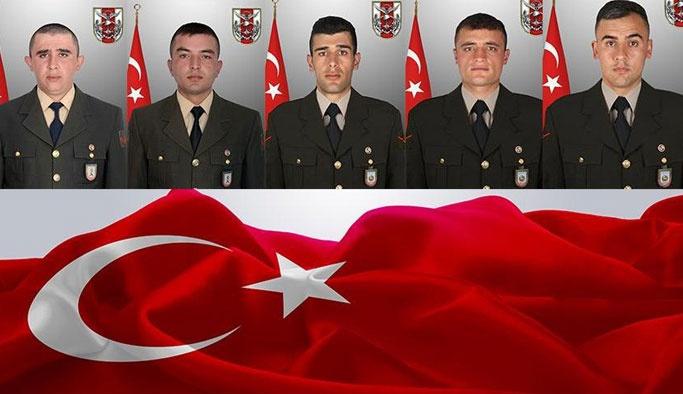 Beş Askerimiz Bugün Toprağa Veriliyor!