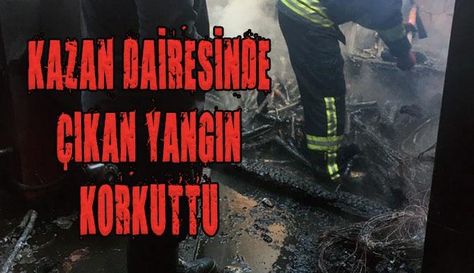 Kazan Dairesinde Yangın