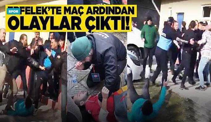 Sinop Erfelek'te maçın ardından olay çıktı