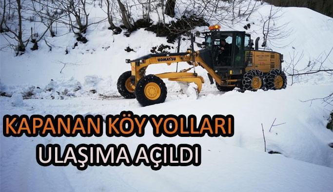 Sinop'ta Kapanan Köy Yolları Ulaşıma Açıldı
