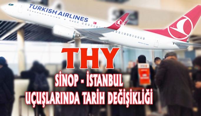 THY Sinop İstanbul Uçuşlarında Tarih Değişikliği