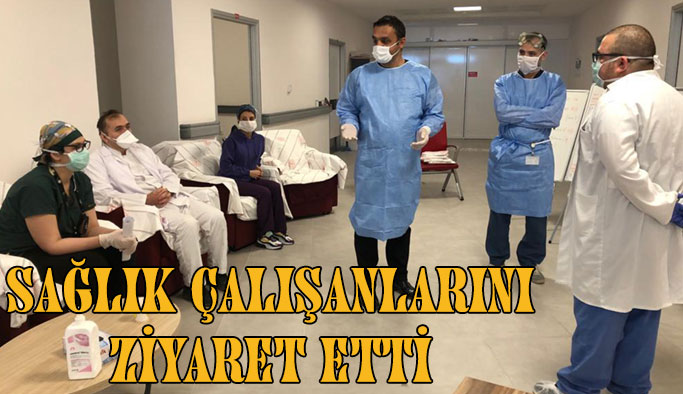 CHP Sinop Milletvekili Barış Karadeniz Sağlık Çalışanlarını Ziyaret Etti