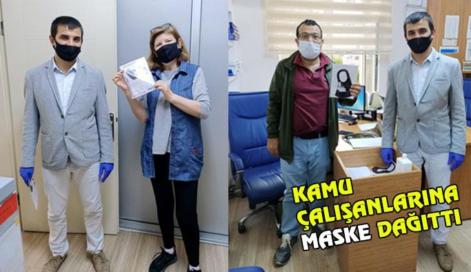 Genç Girişimci Maske Dağıttı