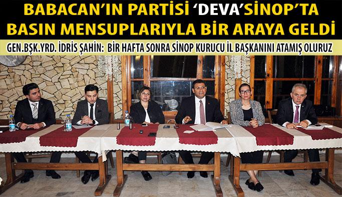 DEVA Partisi Sinop'ta Teşkilatını Oluşturuyor