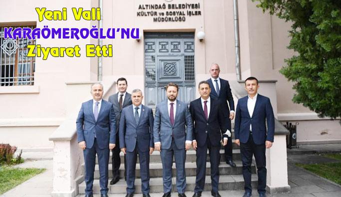 Maviş, Karaömeroğlu'nu Ziyaret Etti