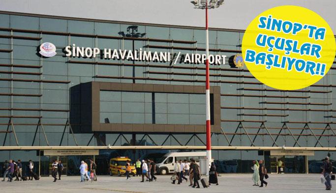 Sinop'ta Yarın Uçuşlar Başlıyor