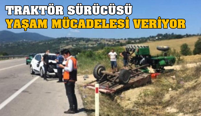 Sarıyer'de Traktör Kazası