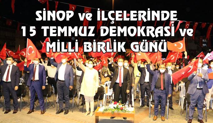 Sinop'ta Demokrasi ve Milli Birlik Günü